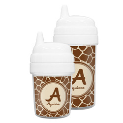 Giraffe Print Sippy Cup (Personalized)