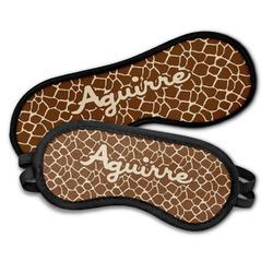Giraffe Print Sleeping Eye Masks (Personalized)