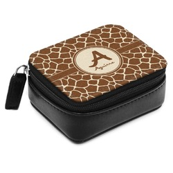 Giraffe Print Small Leatherette Travel Pill Case (Personalized)
