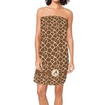 Giraffe Print Spa / Bath Wrap (Personalized)