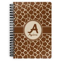 Giraffe Print Spiral Bound Notebook (Personalized)