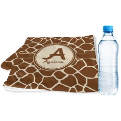 Giraffe Print Sports Towel (Personalized)