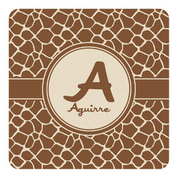 Giraffe Print Square Decal - Custom Size (Personalized)