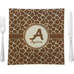 Giraffe Print Glass Square Lunch / Dinner Plate 9.5