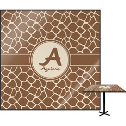 Giraffe Print Square Table Top (Personalized)