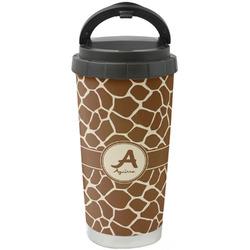 Giraffe Print Stainless Steel Travel Mug (Personalized)