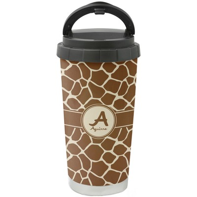 Giraffe Print Stainless Steel Travel Mug (Personalized)