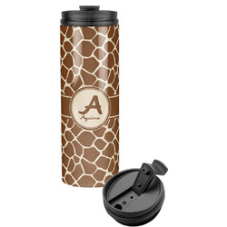 Giraffe Print Stainless Steel Travel Tumbler (Personalized)