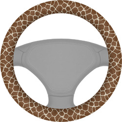 Giraffe Print Steering Wheel Cover (Personalized)