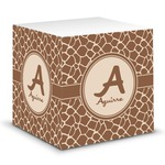 Giraffe Print Sticky Note Cube (Personalized)