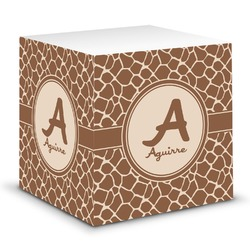 Giraffe Print Sticky Note Cube (Personalized)