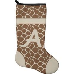 Giraffe Print Christmas Stocking - Neoprene (Personalized)