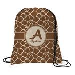 Giraffe Print Drawstring Backpack (Personalized)