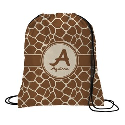 Giraffe Print Drawstring Backpack (Personalized)