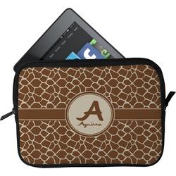 Giraffe Print Tablet Case / Sleeve (Personalized)