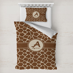 Giraffe Print Toddler Bedding w/ Name and Initial