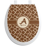 Giraffe Print Toilet Seat Decal (Personalized)