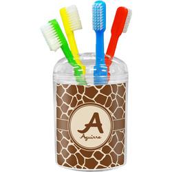 Giraffe Print Toothbrush Holder (Personalized)