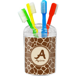 Giraffe Print Toothbrush Holder (Personalized)