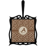 Giraffe Print Trivet with Handle (Personalized)