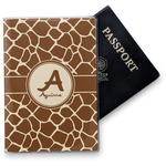 Giraffe Print Vinyl Passport Holder (Personalized)