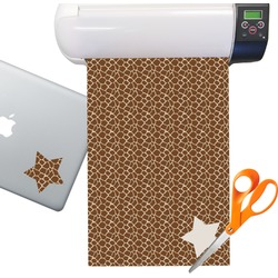 Giraffe Print Sticker Vinyl Sheet (Permanent)