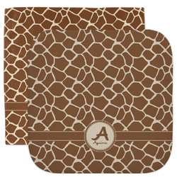 Giraffe Print Facecloth / Wash Cloth (Personalized)
