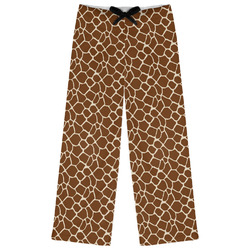 Giraffe Print Womens Pajama Pants (Personalized)