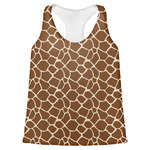 Giraffe Print Womens Racerback Tank Top (Personalized)