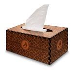 Giraffe Print Wooden Tissue Box Cover - Rectangle (Personalized)