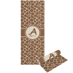 Giraffe Print Yoga Mat - Printable Front and Back (Personalized)