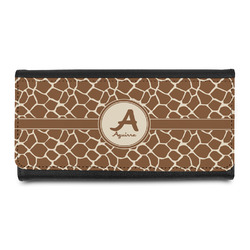 Giraffe Print Leatherette Ladies Wallet (Personalized)