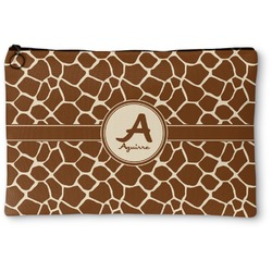 Giraffe Print Zipper Pouch (Personalized)