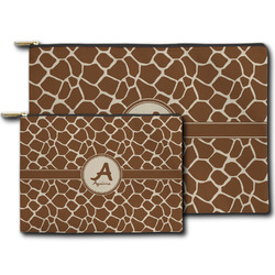 Giraffe Print Zipper Pouch (Personalized)