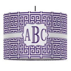 Greek Key Drum Pendant Lamp (Personalized)