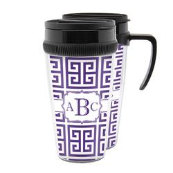 Greek Key Acrylic Travel Mugs (Personalized)
