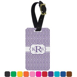 Greek Key Aluminum Luggage Tag (Personalized)