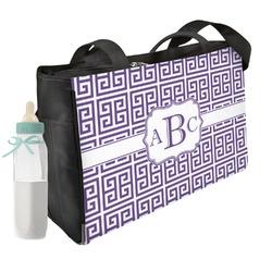 Greek Key Diaper Bag (Personalized)