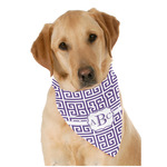 Greek Key Pet Bandanas (Personalized)
