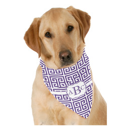Greek Key Dog Bandana Scarf w/ Monogram