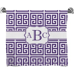 Greek Key Full Print Bath Towel (Personalized)