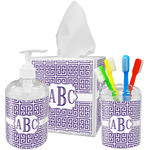 Greek Key Bathroom Accessories Set (Personalized)
