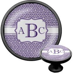 Greek Key Cabinet Knob (Black) (Personalized)