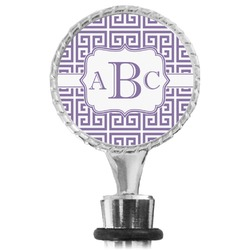 Greek Key Wine Bottle Stopper (Personalized)