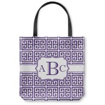 Greek Key Canvas Tote Bag (Personalized)