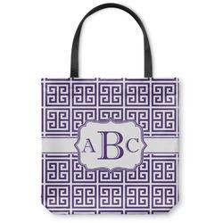 Greek Key Canvas Tote Bag (Personalized)