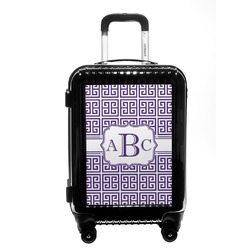 Greek Key Carry On Hard Shell Suitcase (Personalized)
