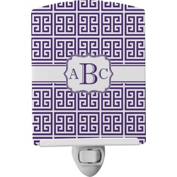Greek Key Ceramic Night Light (Personalized)