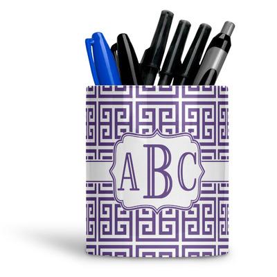 Greek Key Ceramic Pen Holder