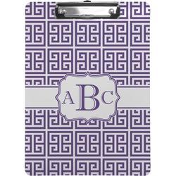 Greek Key Clipboard (Personalized)
